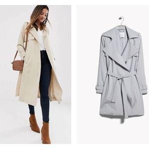 Mango Light Grey Trench Coat